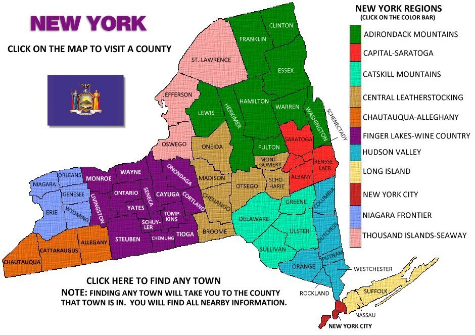 New York Visitors Guide Map